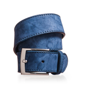 cintura uomo blu