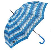 ombrello lungo automatico antivento zig zag aperto