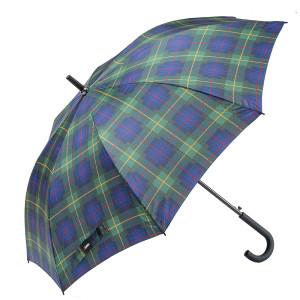 ombrello lungo uomo automatico scozzese aperto