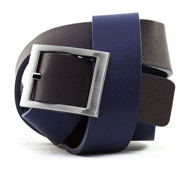 cintura uomo blu/grigia