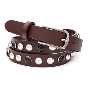cintura donna con borchie
