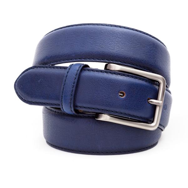 cintura uomo in pelle blu